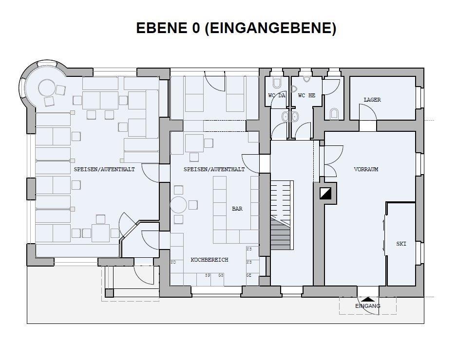 Chalet Badberg, Ebene 0